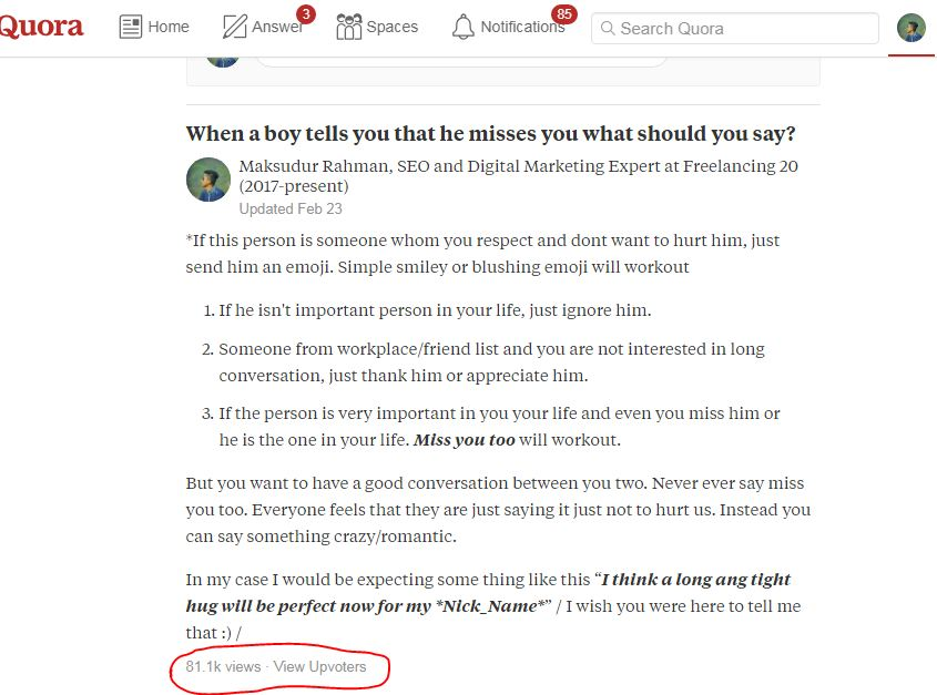 Submit your website 5 best high quality quora answers backlink
