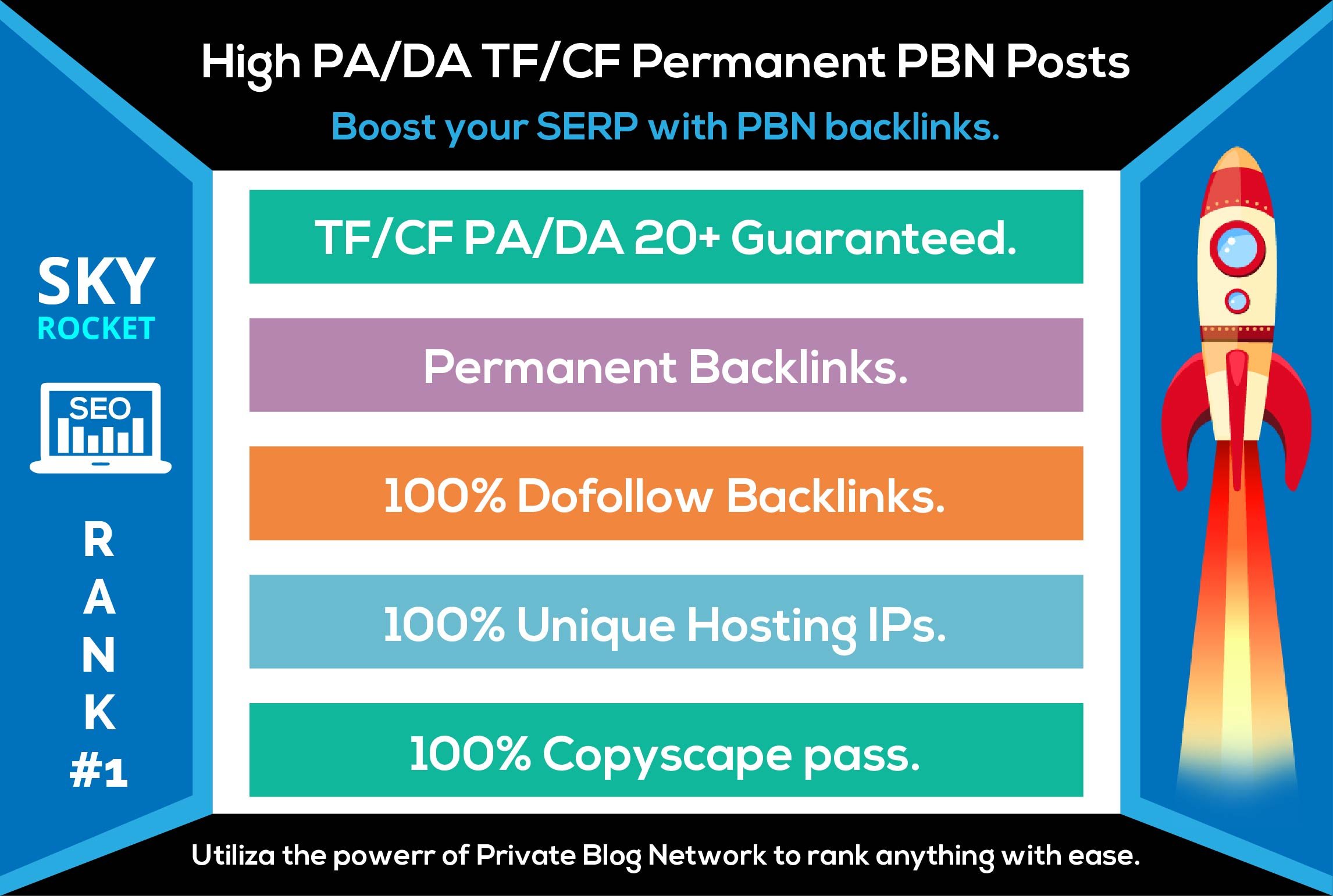Create 25 High PA/DA TF/CF Homepage PBN Backlinks To Skyrocket you SERP