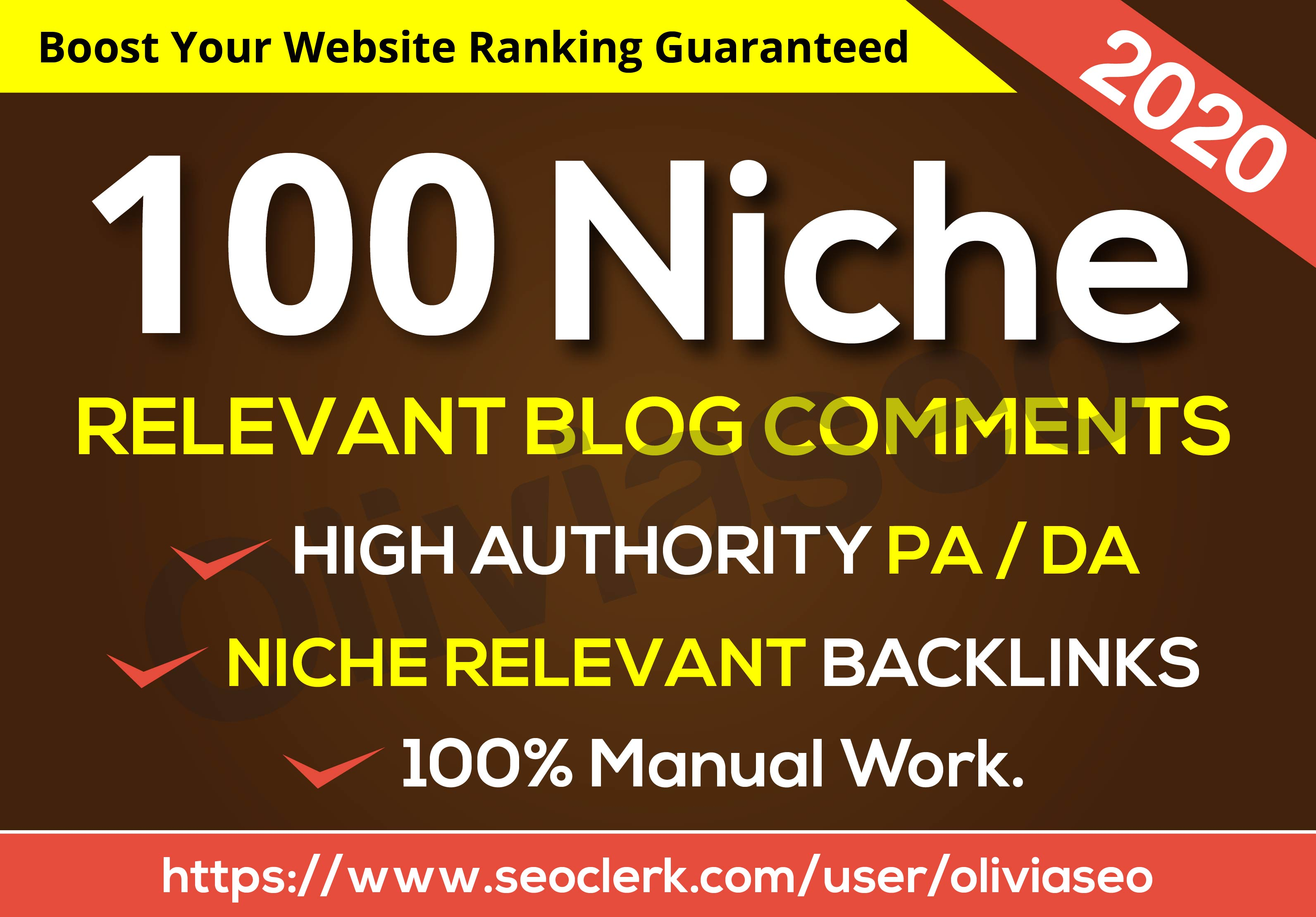 I will Do 100 High Quality Niche Relevant Blog Comments Backlinks