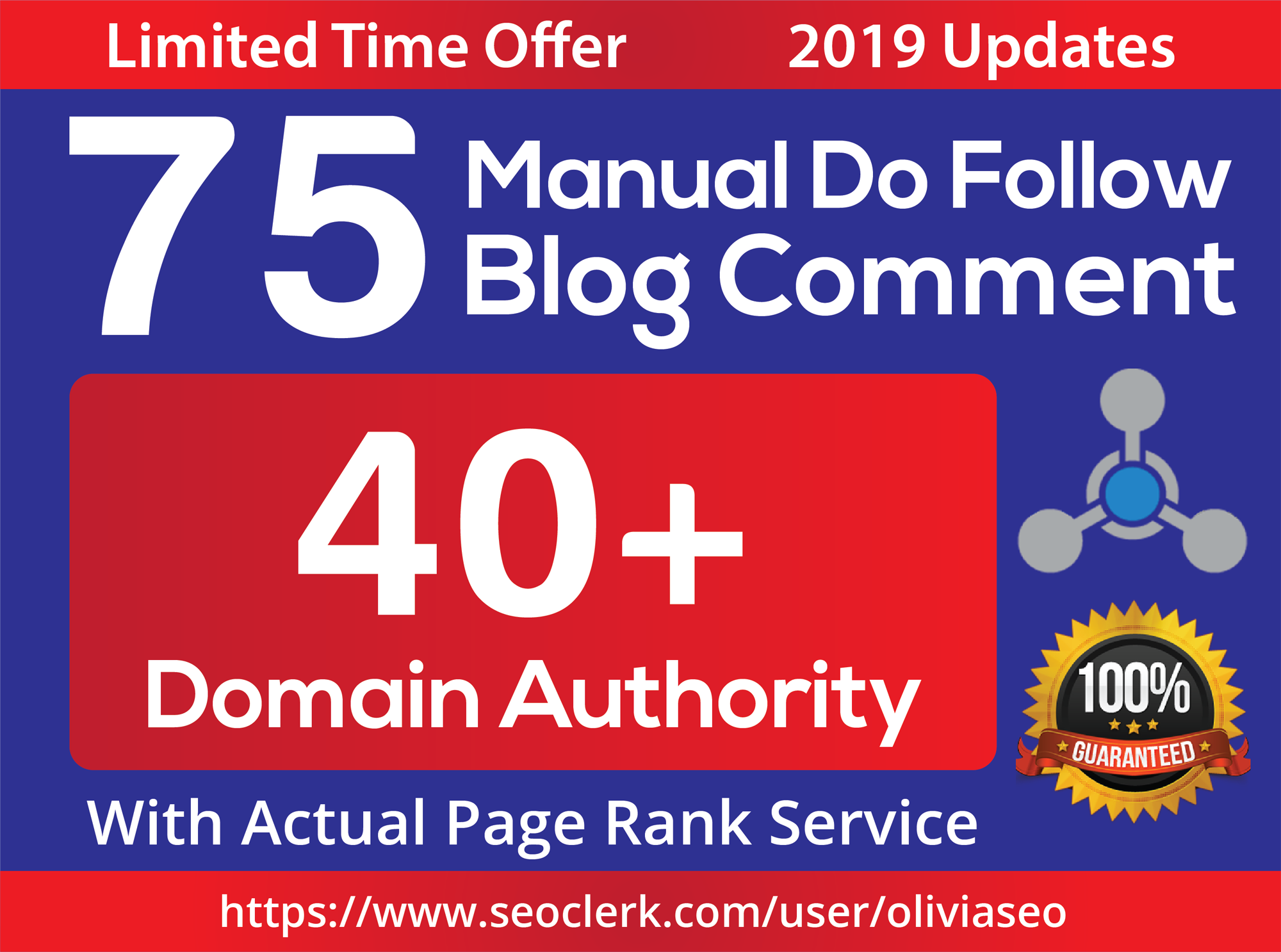 Limited Time- 75 Backlinks from High DA-40+ Domains your Google RANKINGS