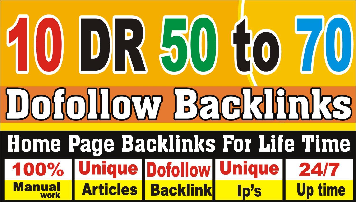 make 10 High DR 50 to 70 pbn backlinks