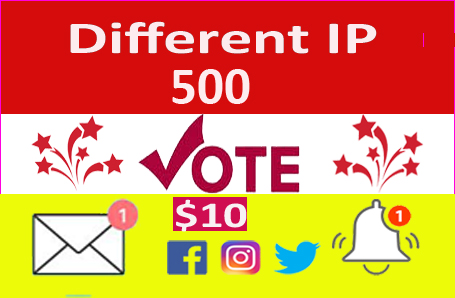 Supper Fast 500 Different IP Votes For Any Online Voting Contest