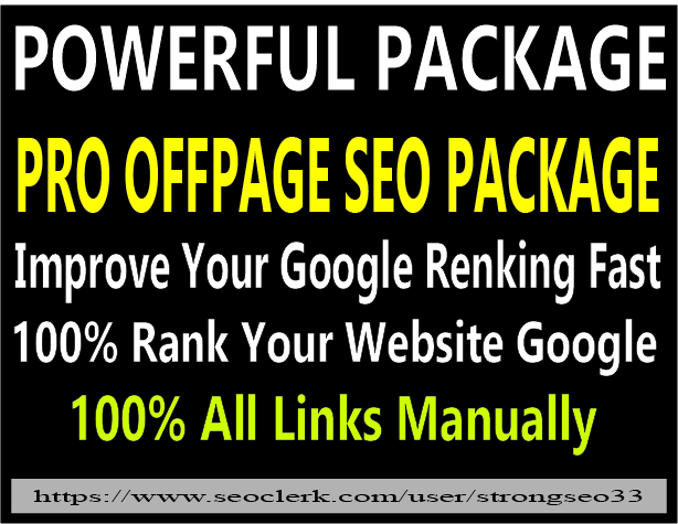 I will provide off page high quality SEO backlinks package