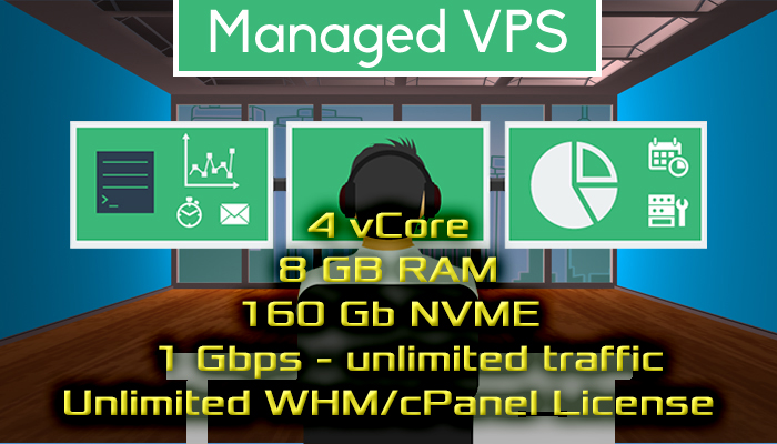 WHM's / cPanel Managed VPS With Unlimited cPanel License & Full Support