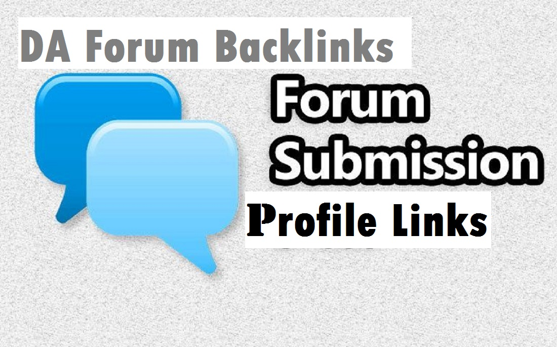 120 High Authority Forum Profile backlinks For your Forums