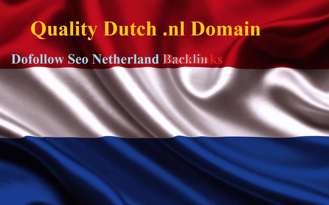 Make 15 DA+90 Do follow Dutch nl domain Contextual backlinks