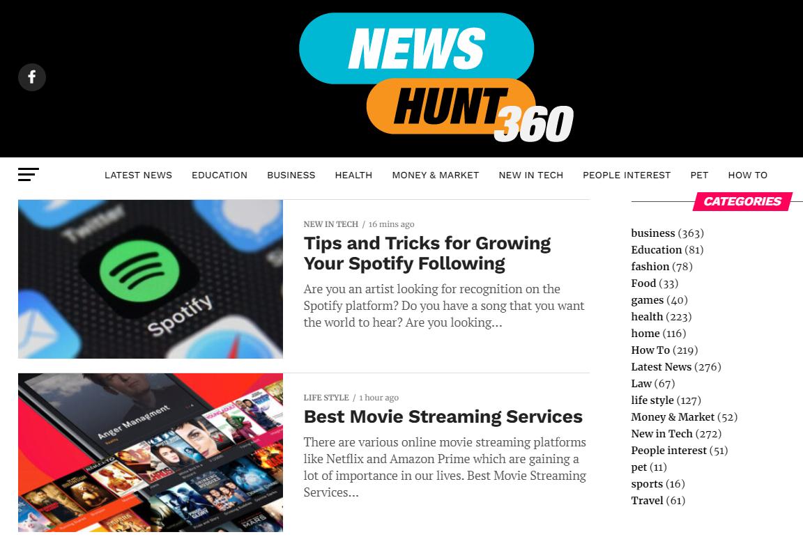 Guest Post Google News Approved Tech Business News Site Newshunt360. com 67 DA