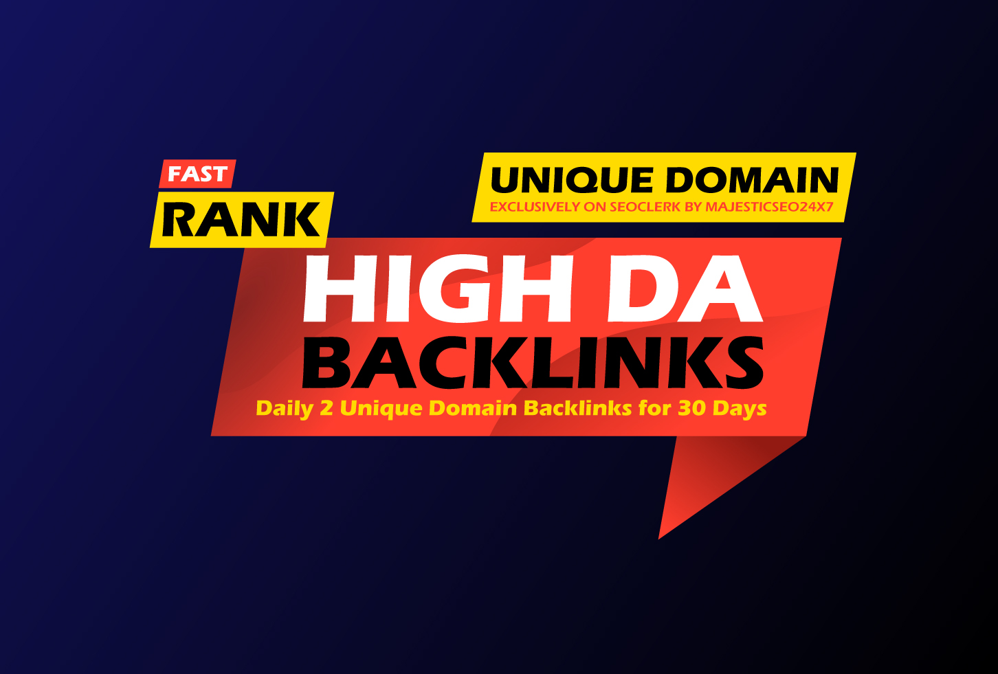 30 days drip feed daily 2 unique high da backlinks for higher ranking
