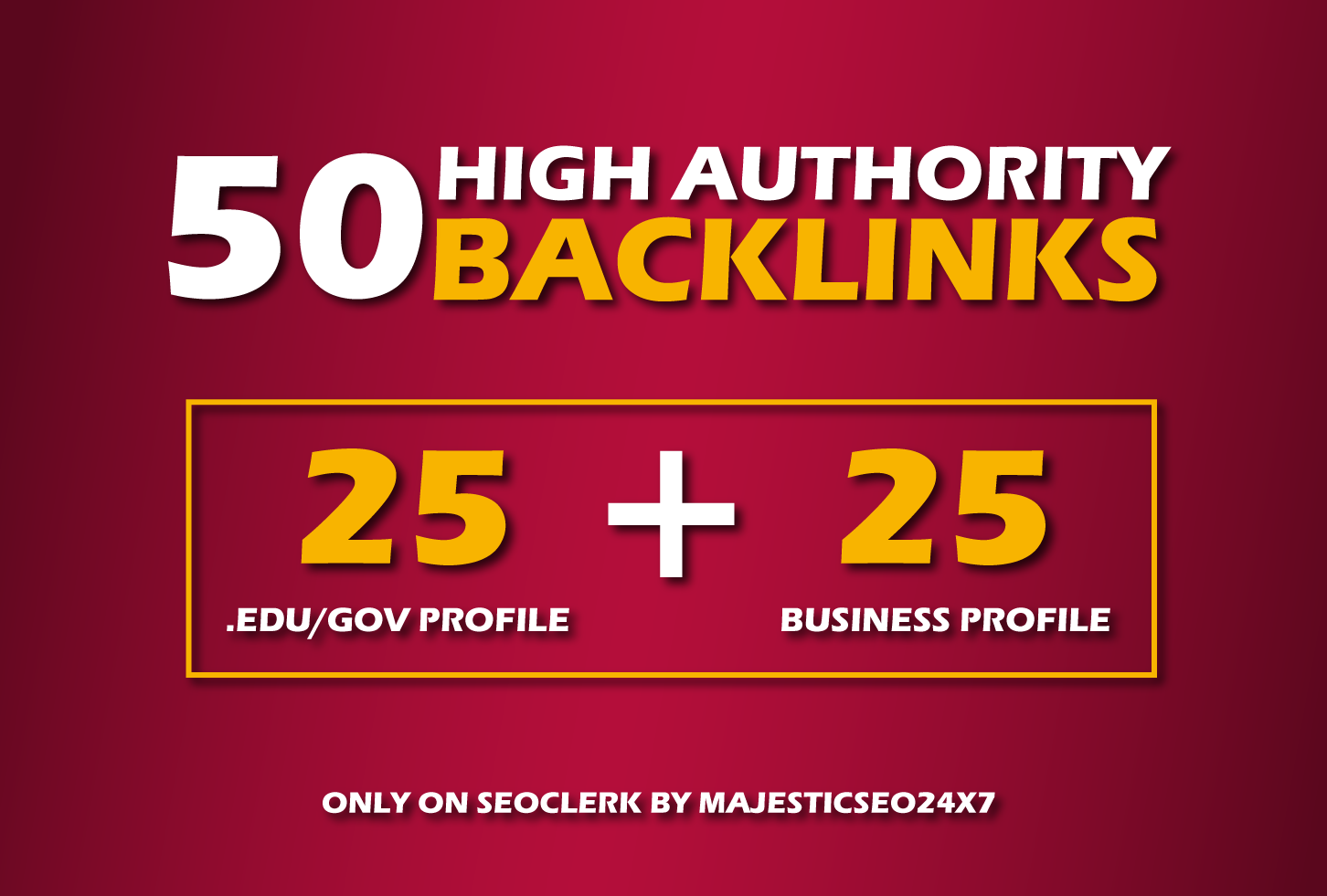 Manually Create 50 High Authority Backlinks for Improve Website Ranking