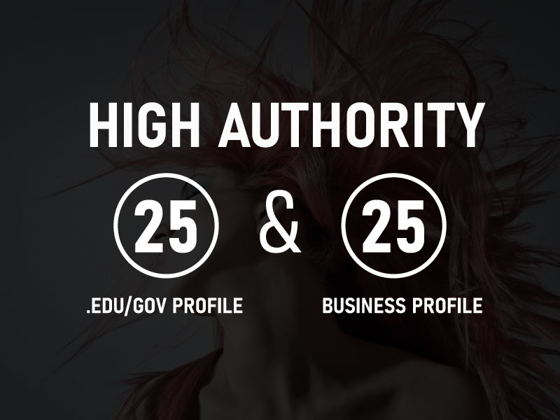 Manually Create High DA 25. Edu/Gov Profile With High DA 25 Business Profile