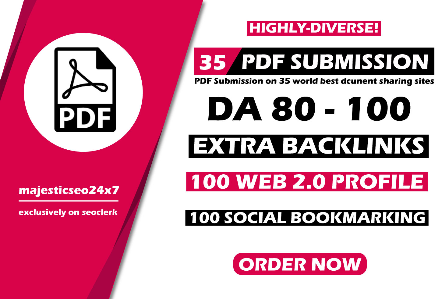 Manual PDF Creation & Submission service for ranking on google