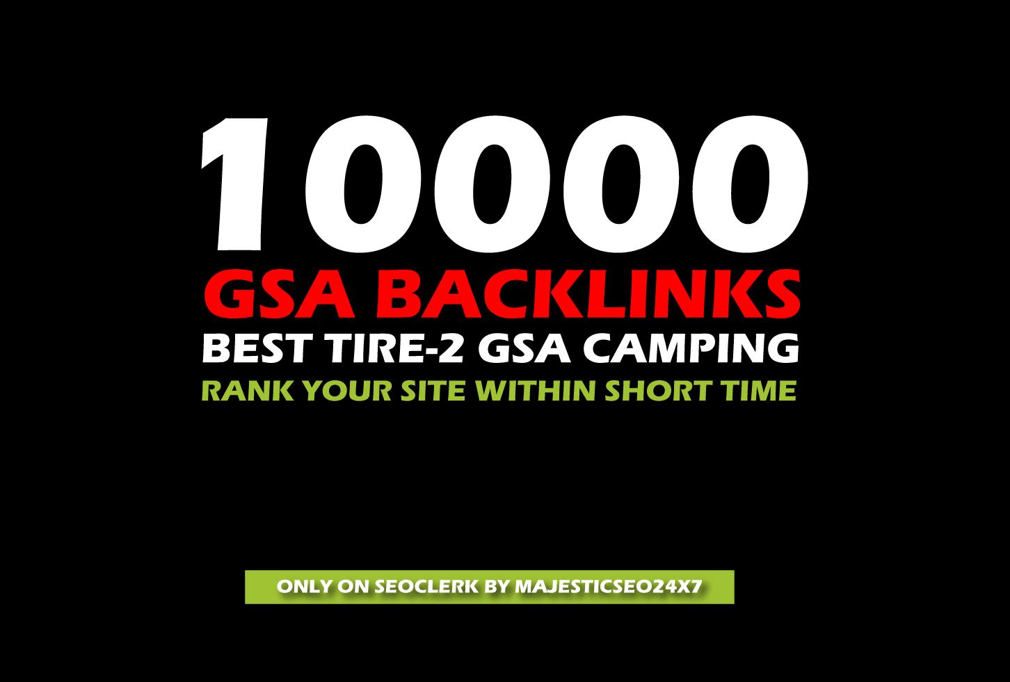 10,000 GSA backlinks for google ranking