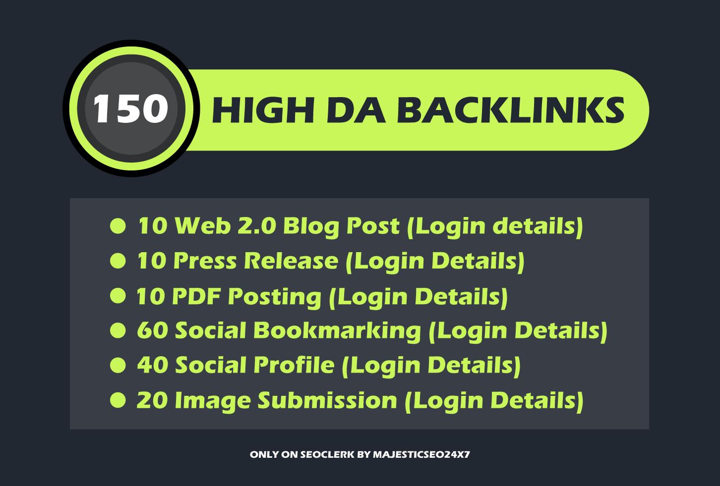 150 safe high DA SEO contextual backlinks help you rank higher on google