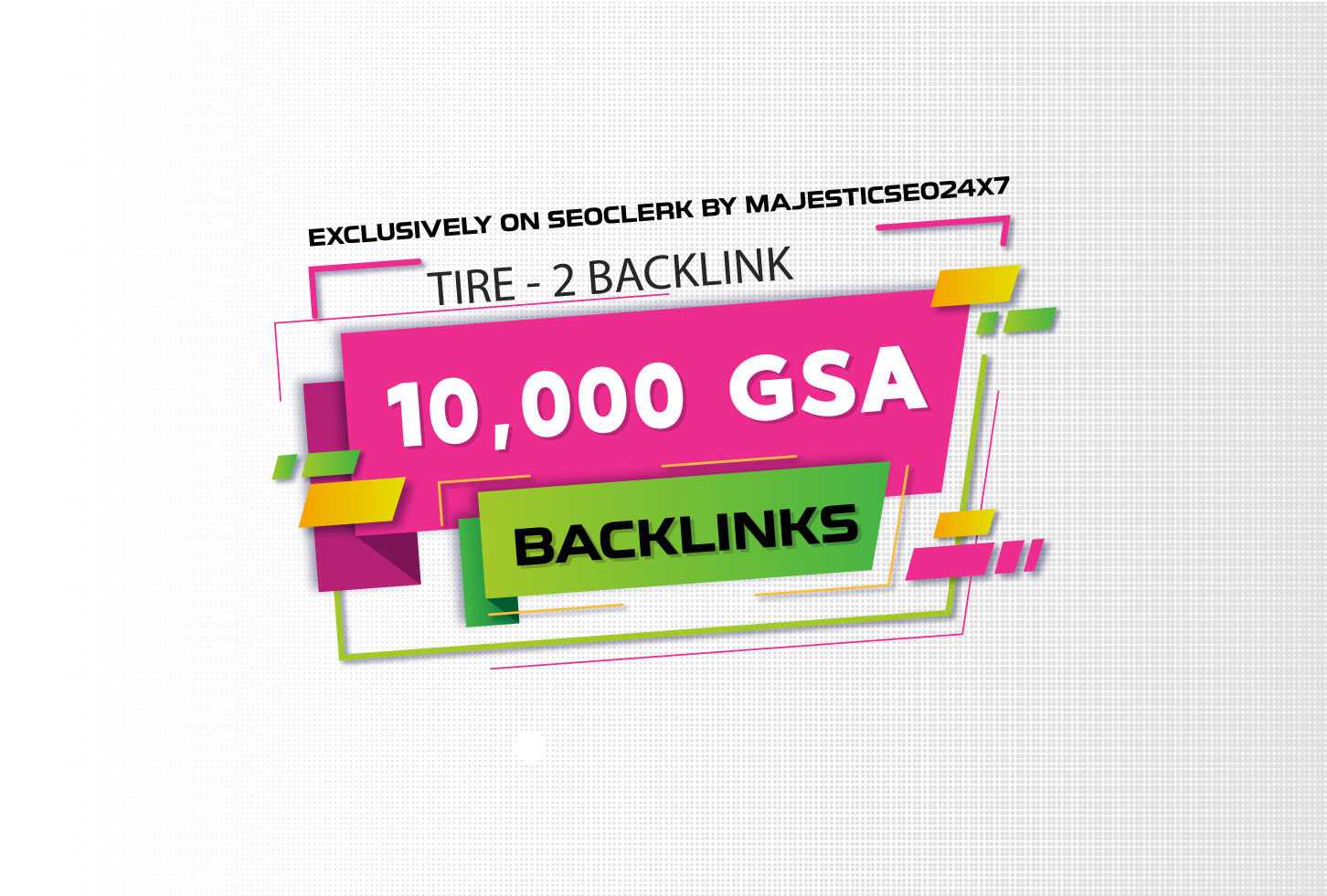 10,000 GSA backlinks for google ranking