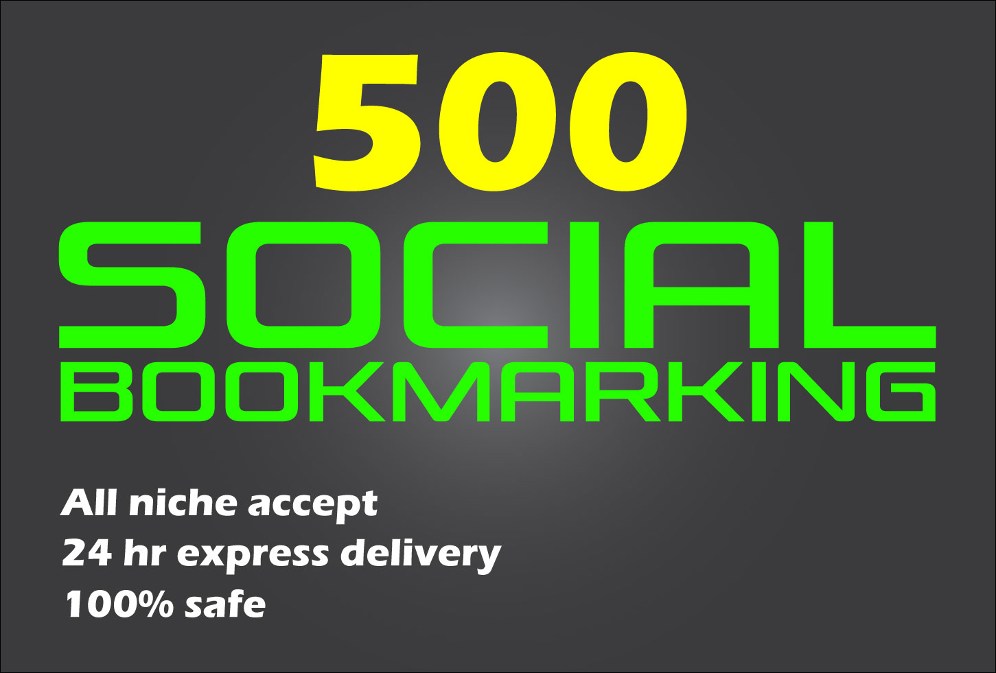 Instant 500+ Live Social Bookmarking Links within 24 hours
