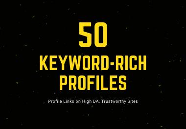 FREE 50 Keyword-Rich Profiles With Logins