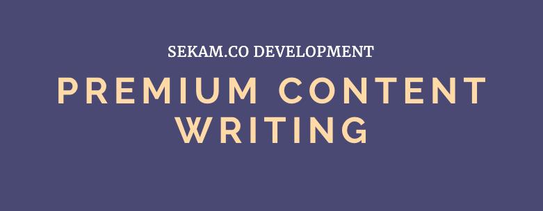 Premium Content Writing - A Grade Writers - Fast TAT