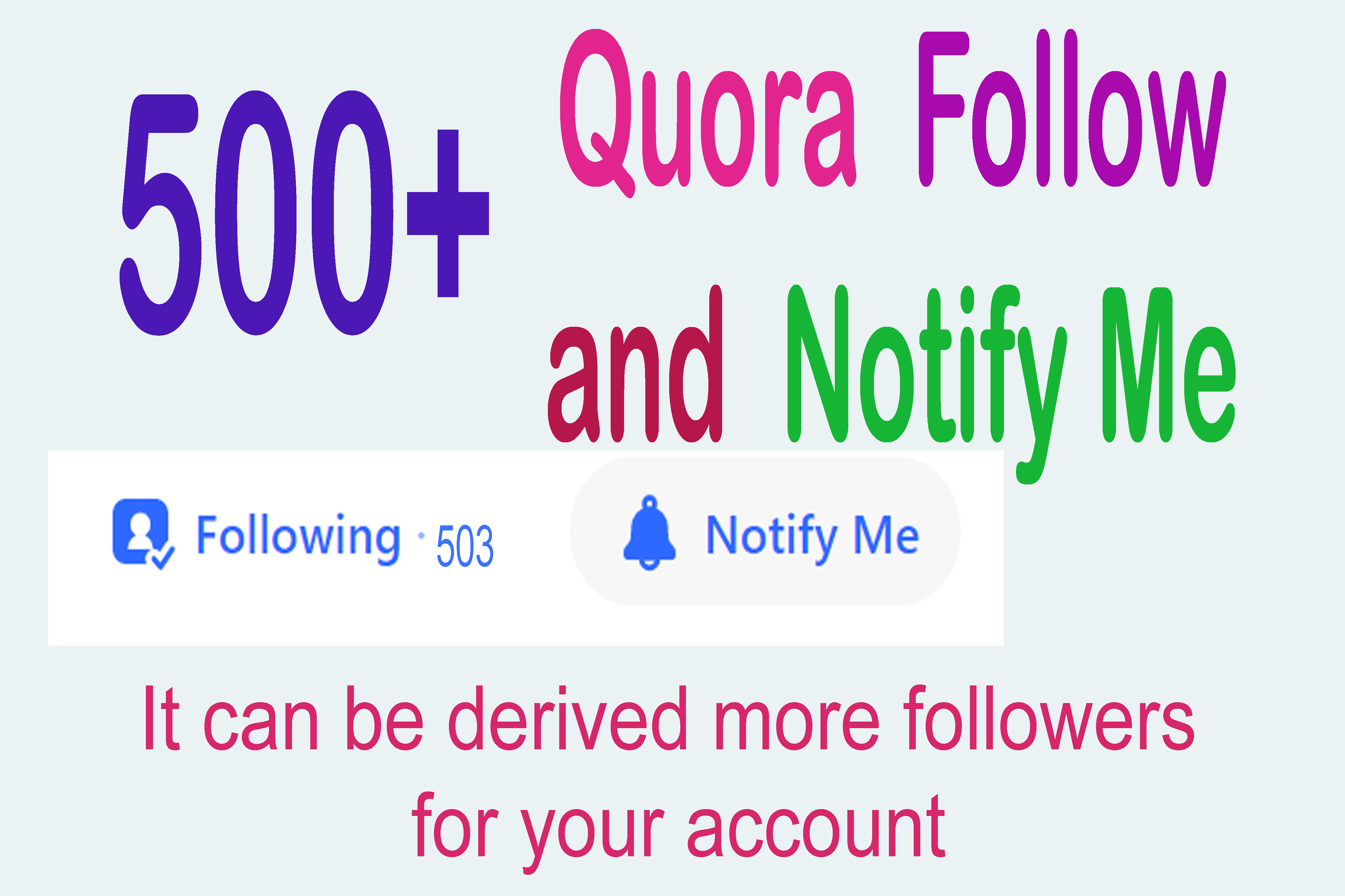 500+ Quora Permanent follower for your Account