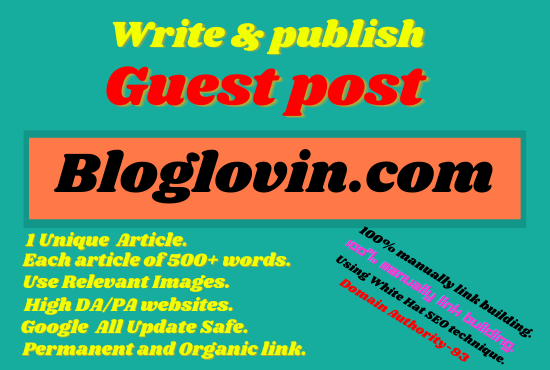 Write And Publish A Guest Blog Post On bloglovin. com
