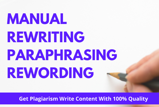 rewrite article and paraphrase content in 5 hours