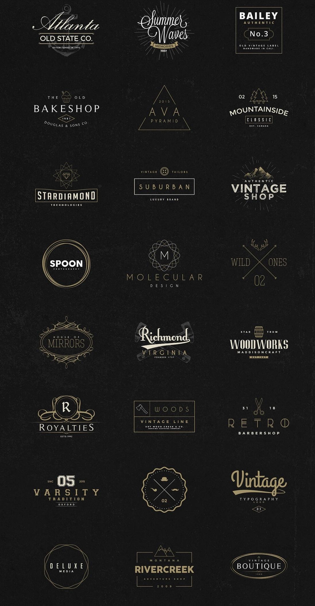 I Will Create Design A Vintage Or Retro Logo