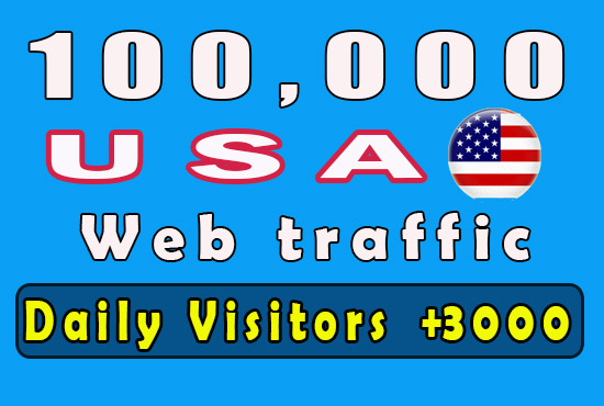 100K USA traffic to your site - only Human Visitors - Niche relevant and Keywords targeted traffic
