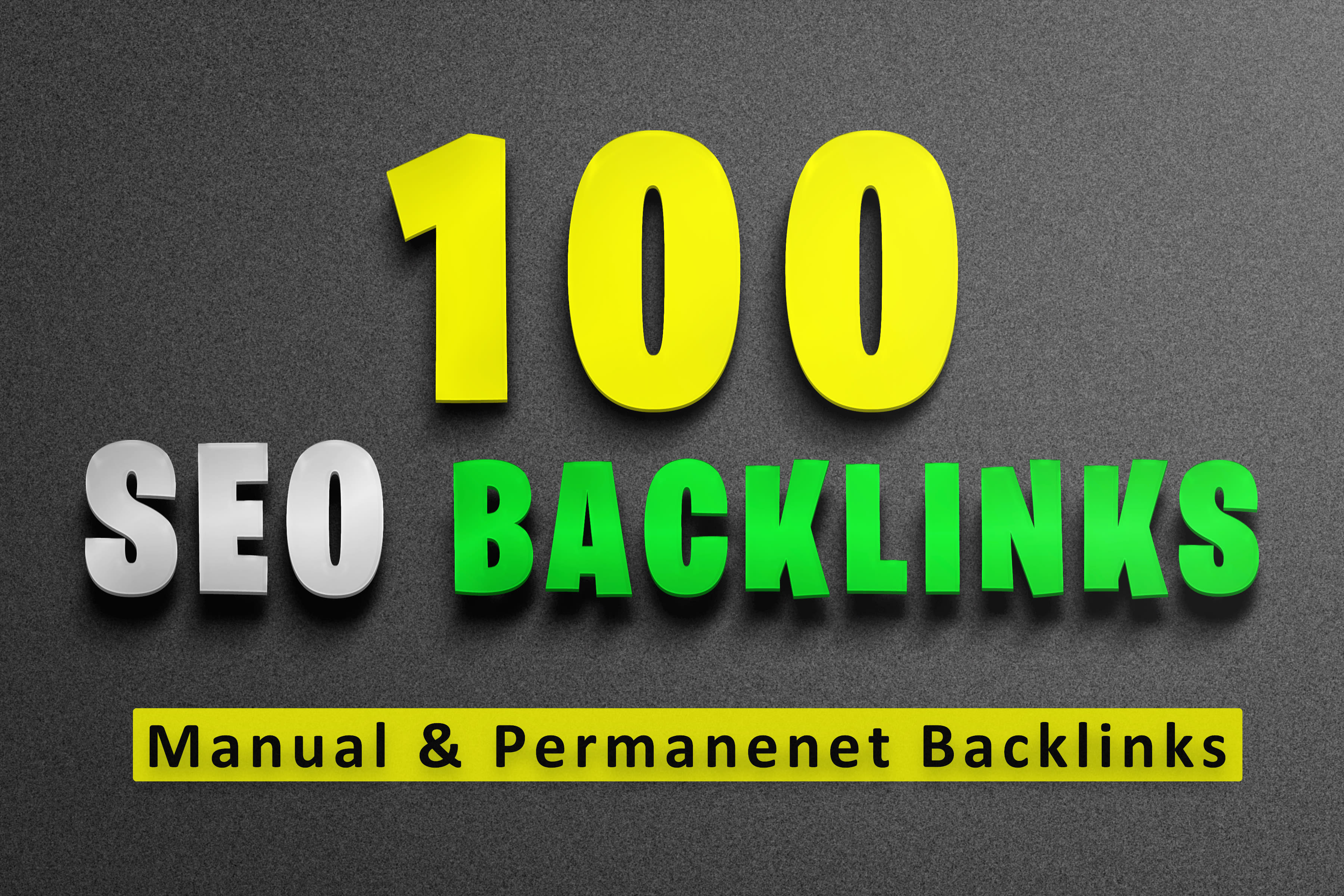 do manually 100 SEO backlinks,  high da,  and permanent links for your any website