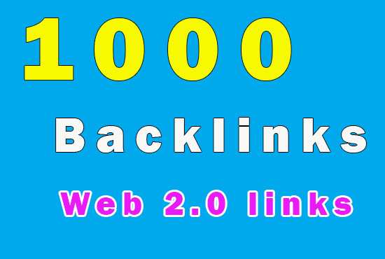 1000 SEO backlinks from Web 2.0 high Quality links for your site - only profile links backlinks
