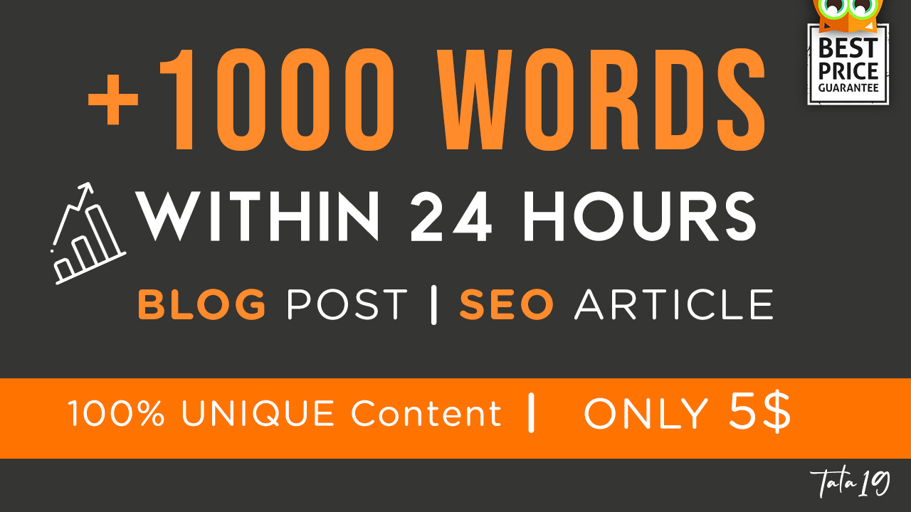 I will write 1000 words blog or SEO article within 24 hours