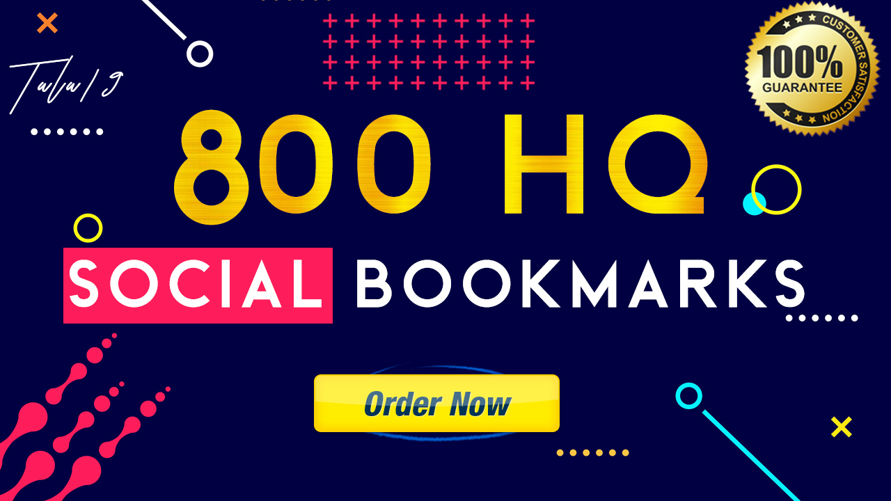 I Will Do 800 SEO Social Bookmarks High-Quality Backlinks