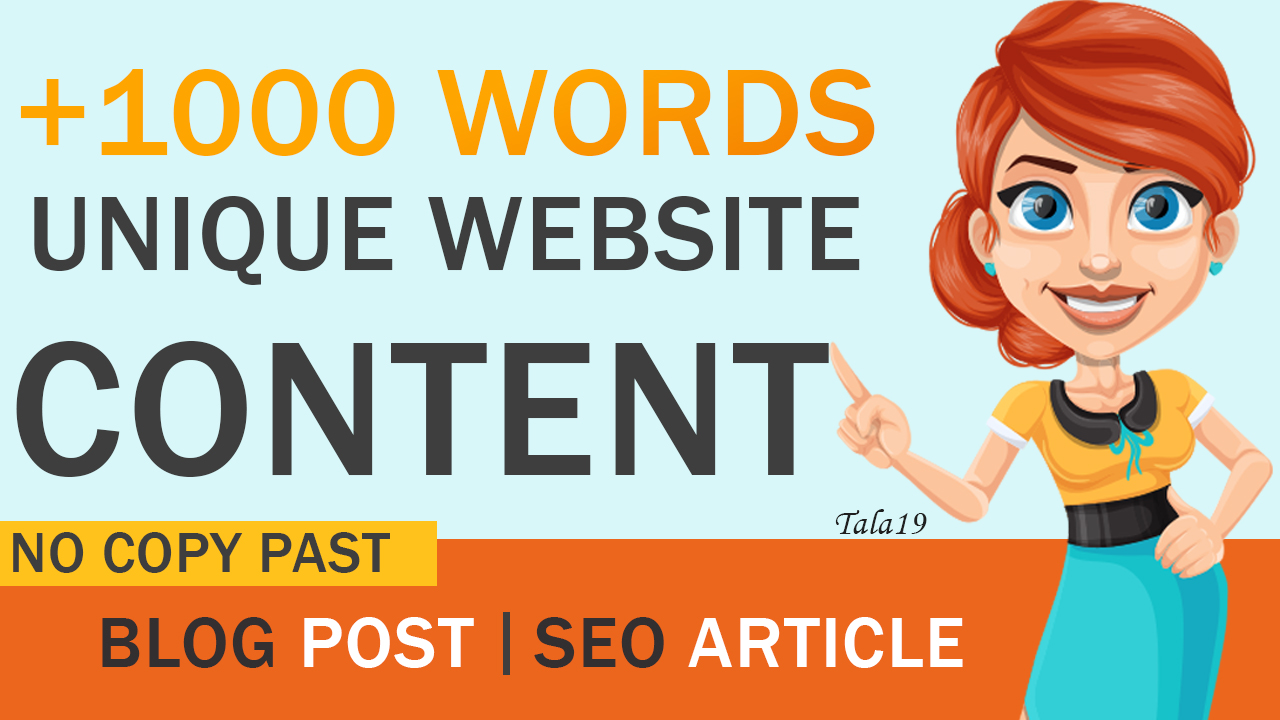 I will write 1000 words blog or SEO articles Unique content NO COPY PAST