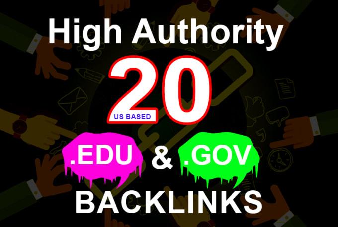 Manual 20 High Domain Authority edu and gov backlinks