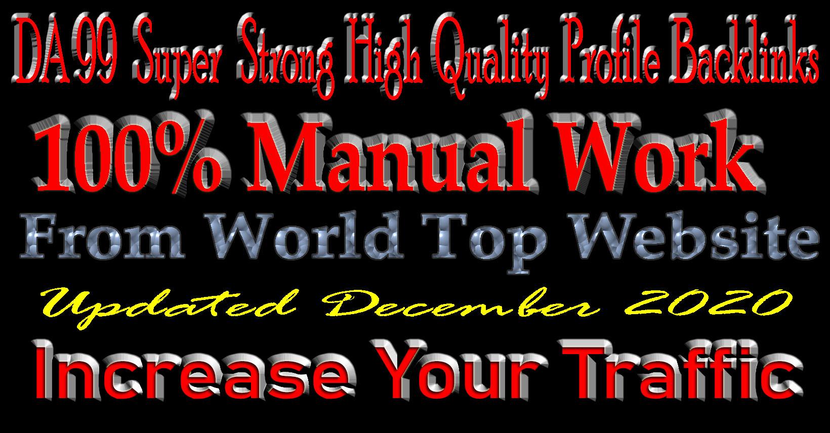 DA 92+ White Hat Powerfull Quality Profile Backlinks (Best Sell-2020)