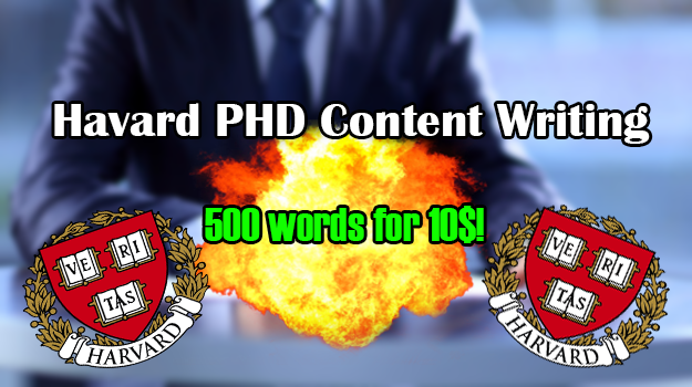 Harvard PHD Level Content Writing | 500 words