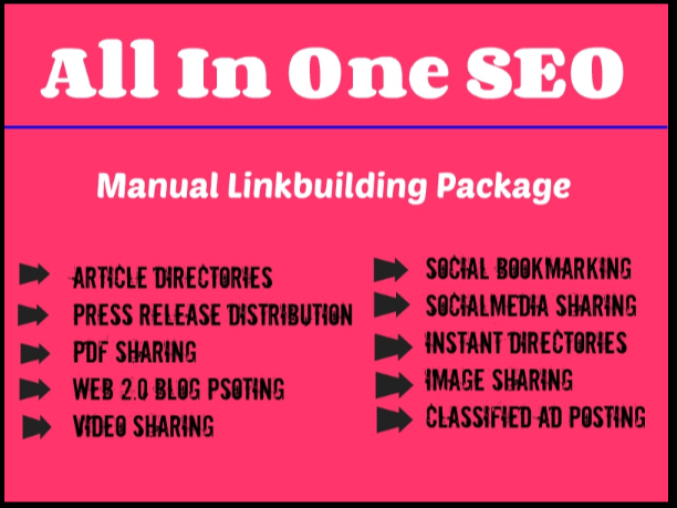 All In One Manual SEO Link Building Services