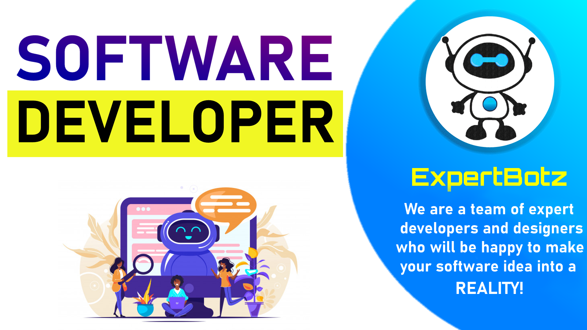 We will develop a software to do anything you want