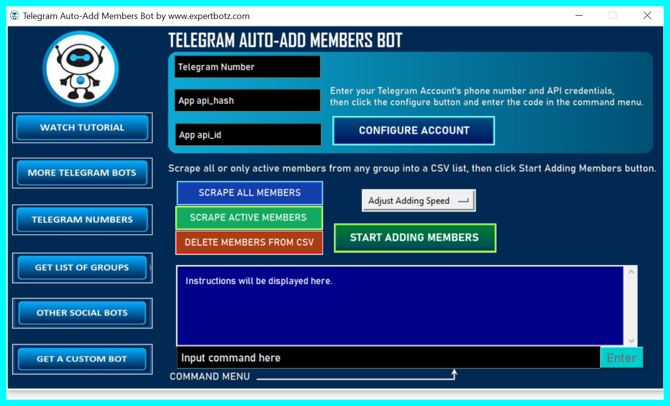 Telegram Auto-Adding Bot- add unlimited users from any GR0UP to yours