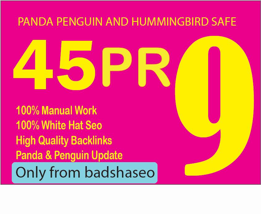 High Quality 45 PR-9 Backlinks for sky rocket your web site