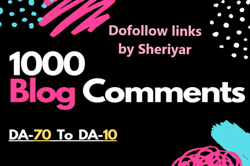 providing 1000 blog comment backlinks on high domain authority