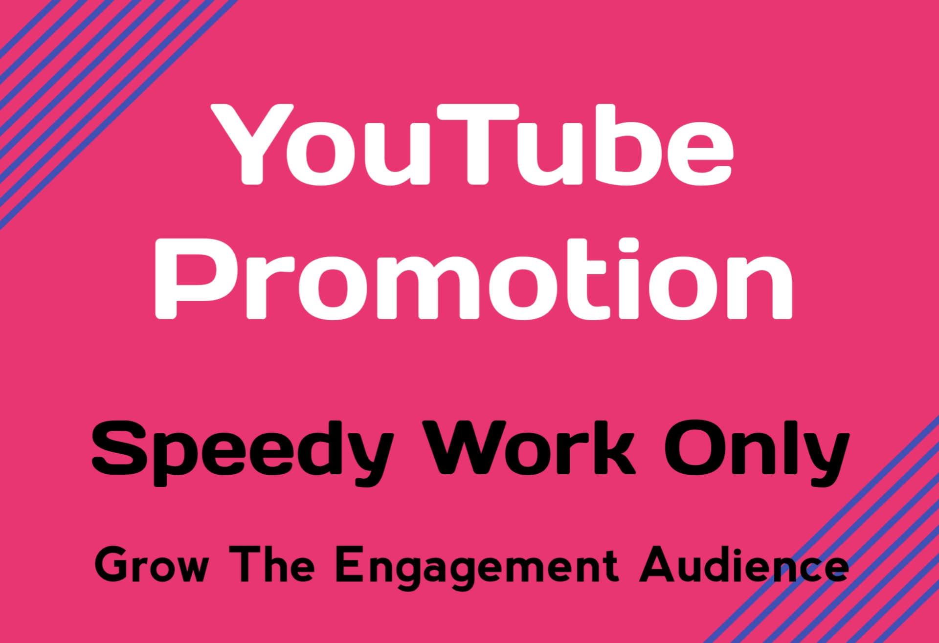 Speedy Work Only For Youtube Video Promotion