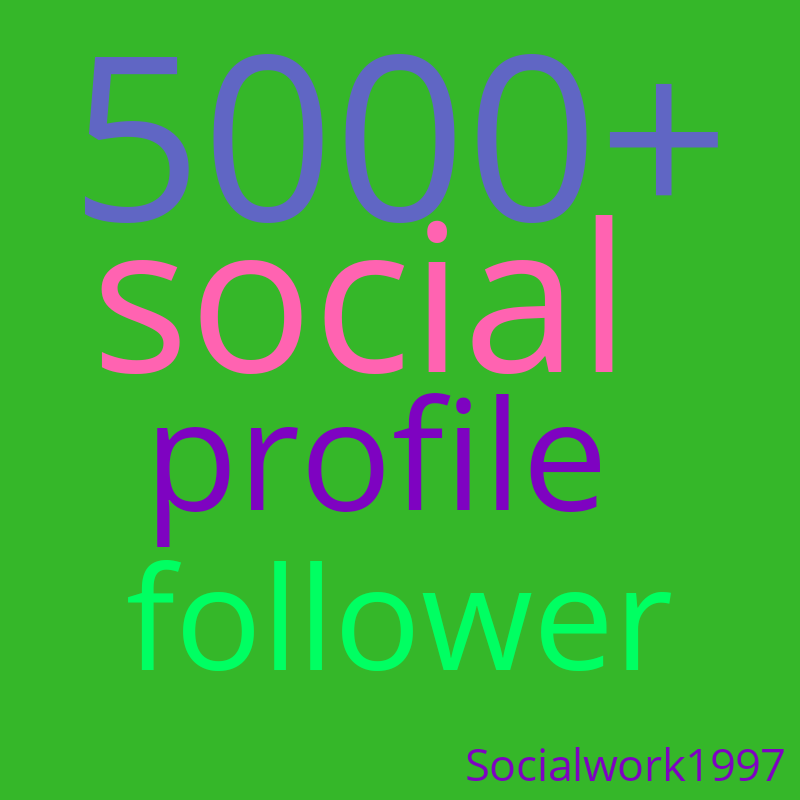 Do manually social profile follow promotion &instant fast only