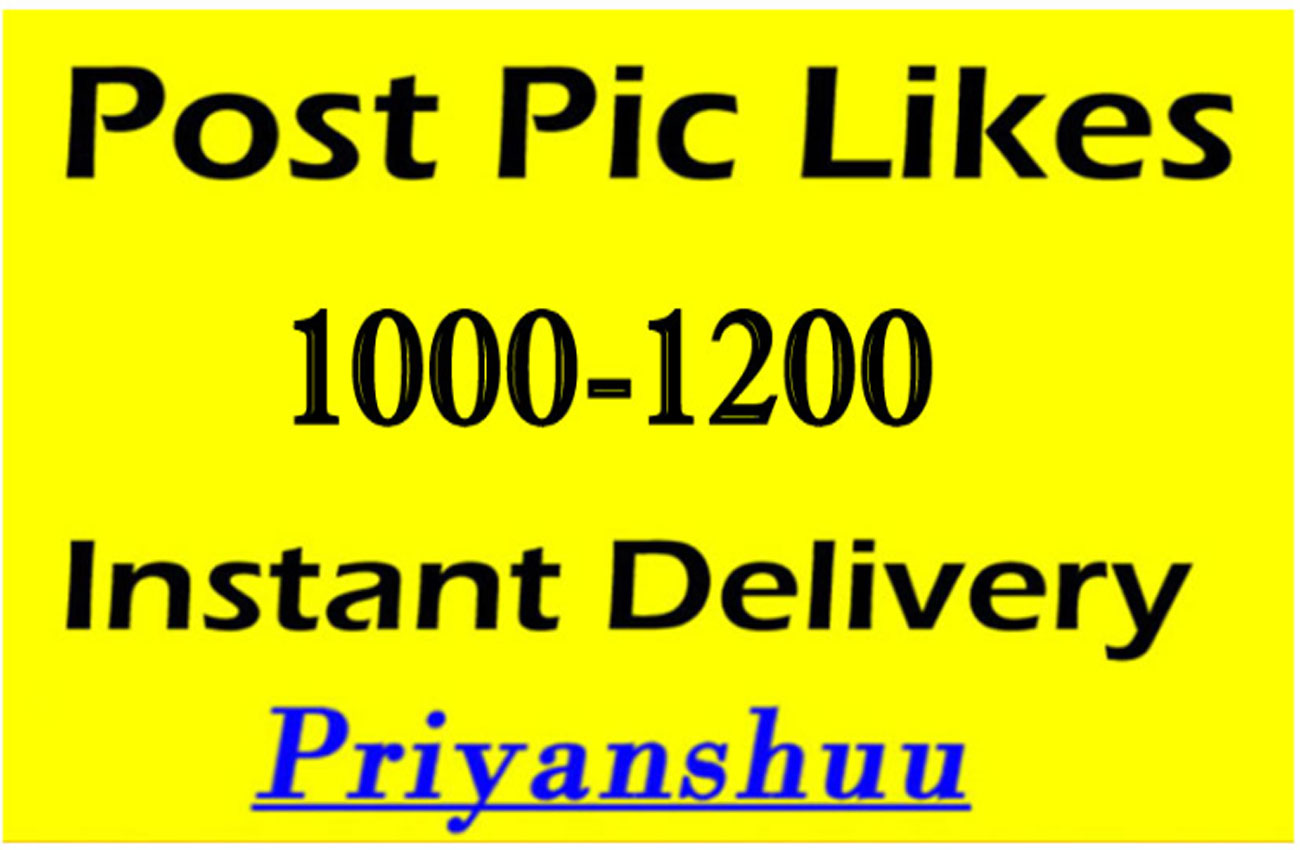 Instantly 1000 to 1200 Picture post video promotion marketing