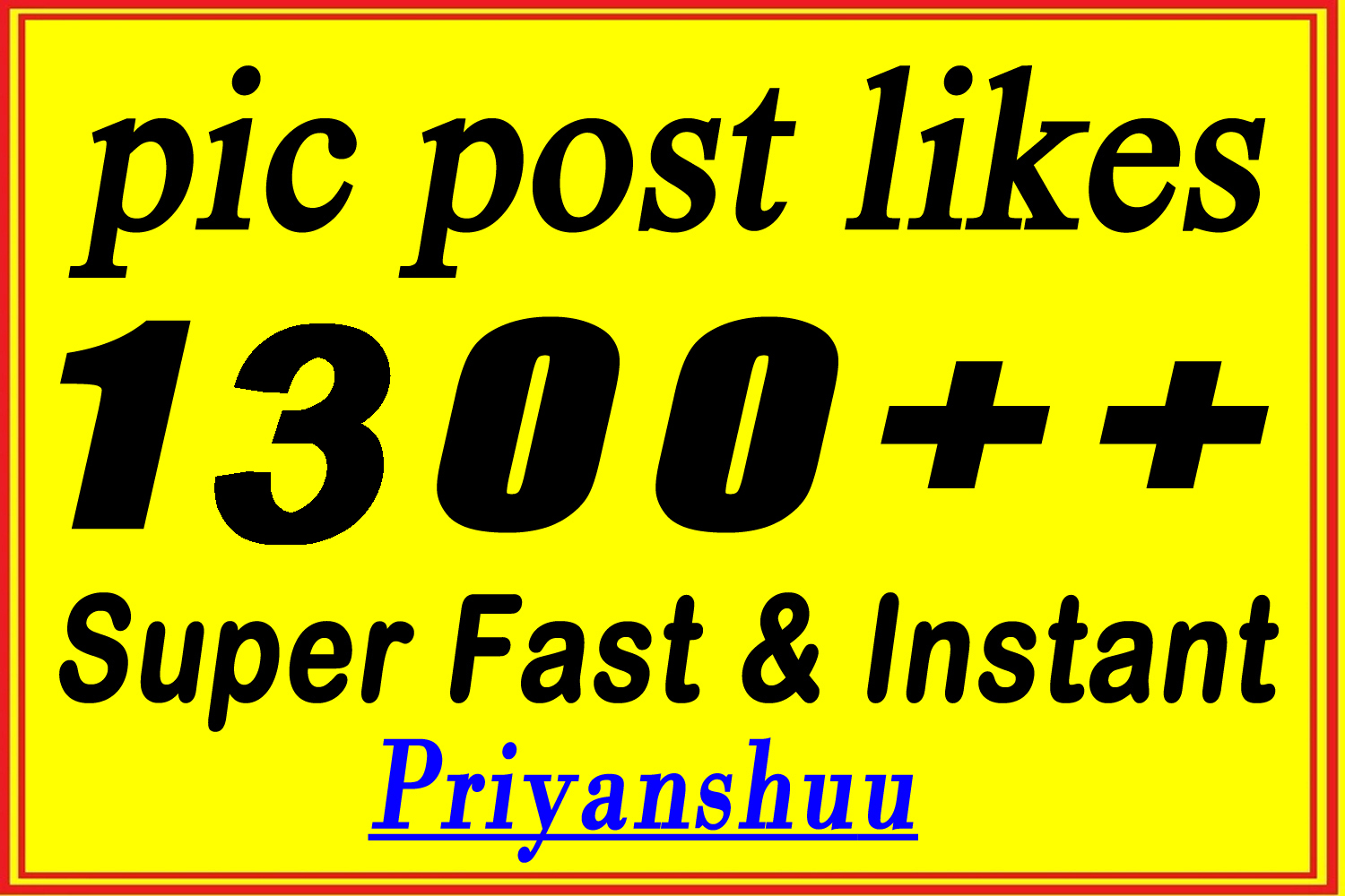 instant 1200-1300 picture post promotion marketing in 4 hours