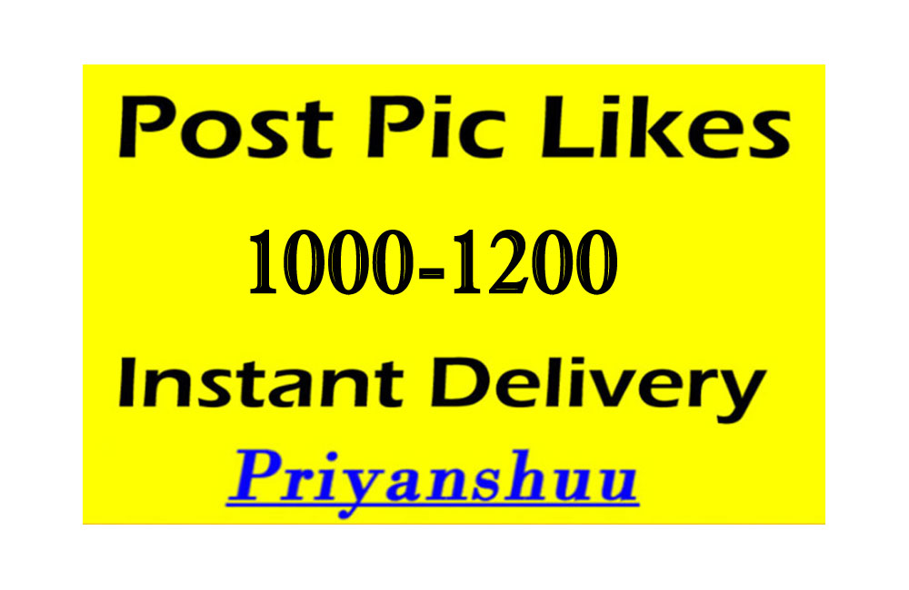 Instantly Organic 1000 to 1200 Picture post video promotion HIGH QUALITY