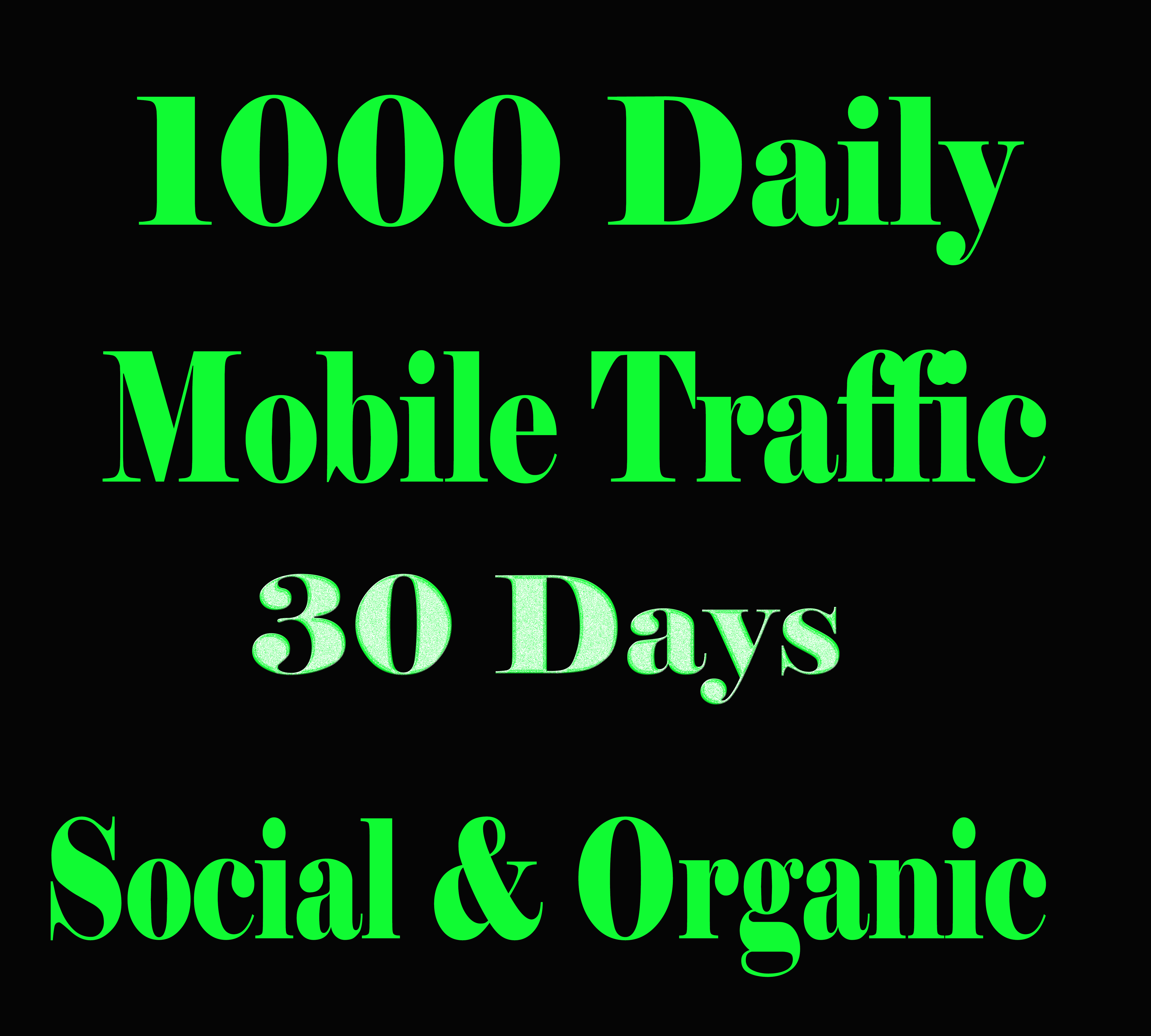 Get Real MOBILE Web Traffic for 30 days