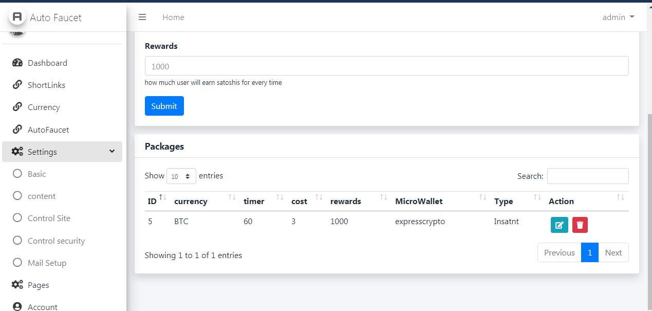 AutoFaucet Script Full Resposive Pay Via ExpressCrypto,walcrypto and faucetpay