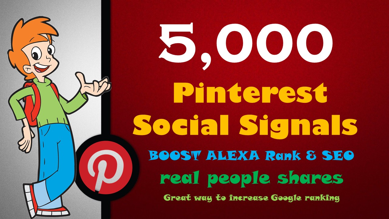 Powerful 5,000 PR9 Pinterest Repin Social Signals Backlink to Get More Traffic