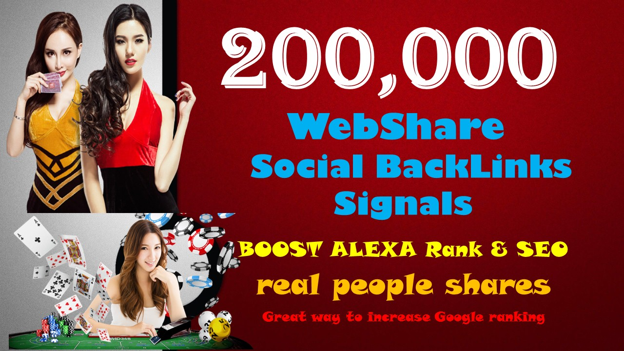 200,000 Signals Backlinks Agen Judi Bola Casino Gambling Sites Improve Google 1st Page