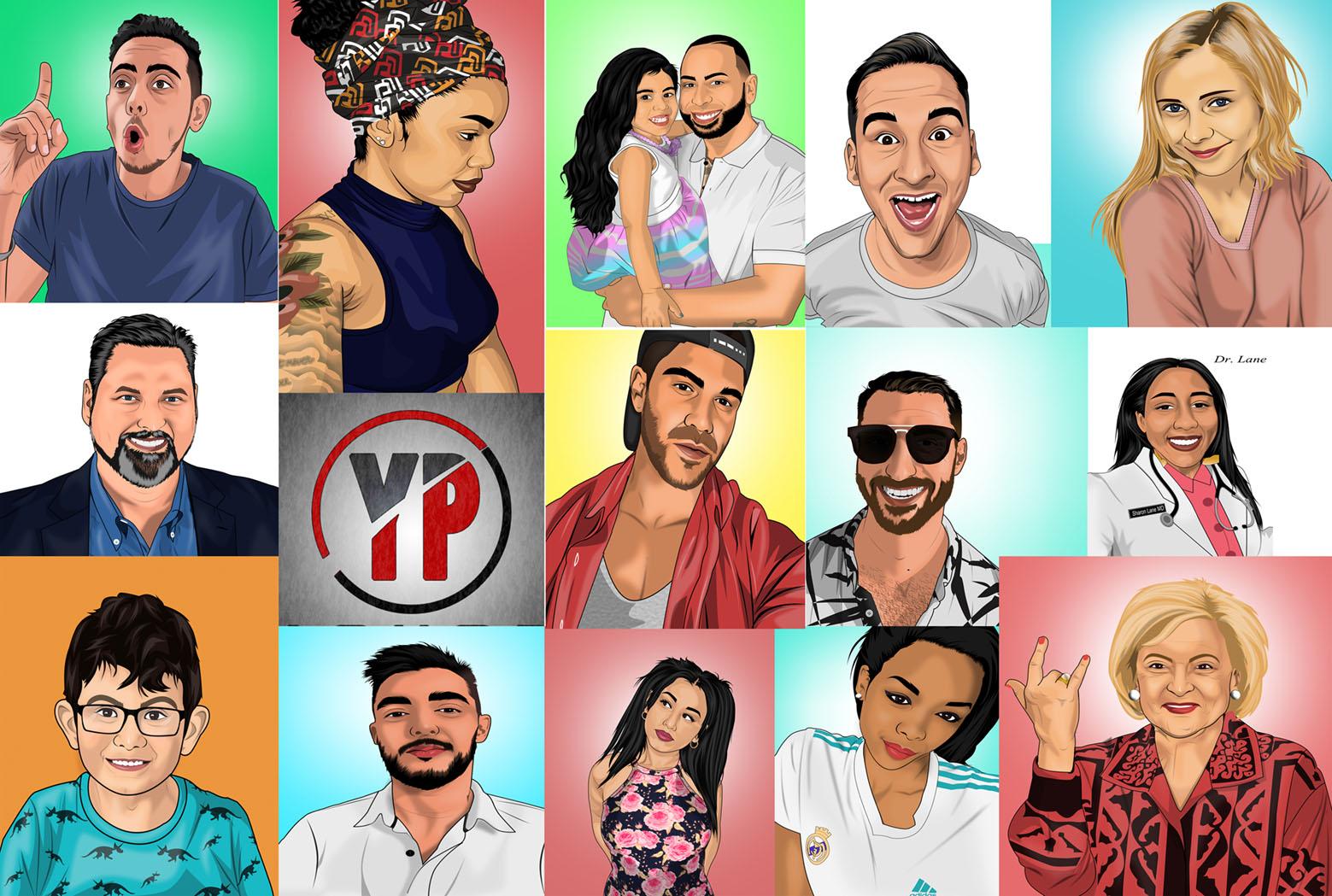 Make your picture into a cartoon portrait