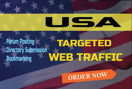 Get USA Targeted Web Traffic and Rank up your site 15 forum+10 Directory + 10 Bookmarking